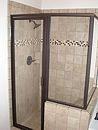 Framed Glass Shower Stall-Bronze-sm4